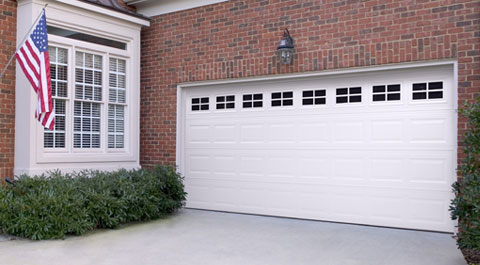 standard short panel two car garage door semper fidelis garage doors. Black Bedroom Furniture Sets. Home Design Ideas